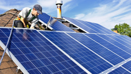 Residential solar energy pv system array