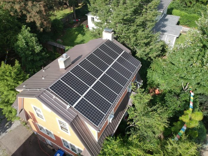 Asheville, North Carolina – Buncombe County solar panels drone photo