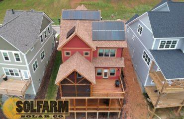 SolFarm Solar Co residential solar installation