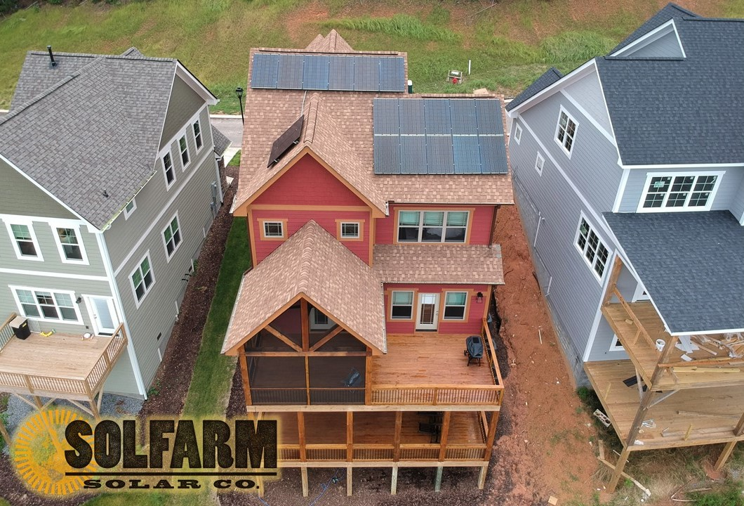 SolFarm Solar Co residential solar installation